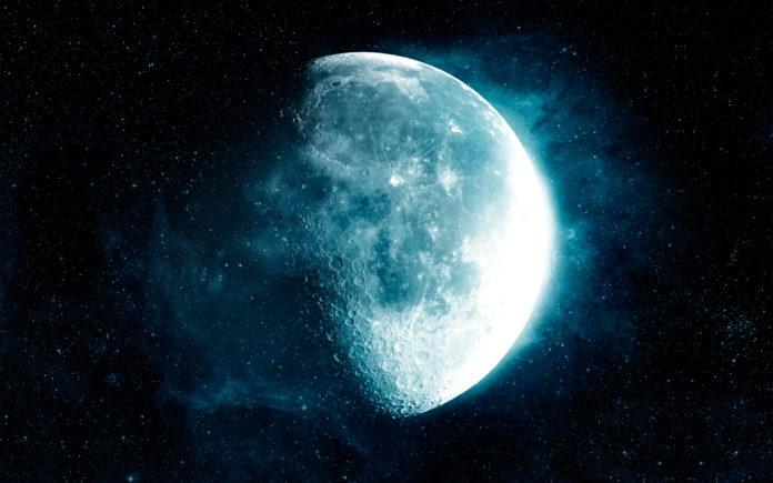 фазы растущей и убывающей Луны